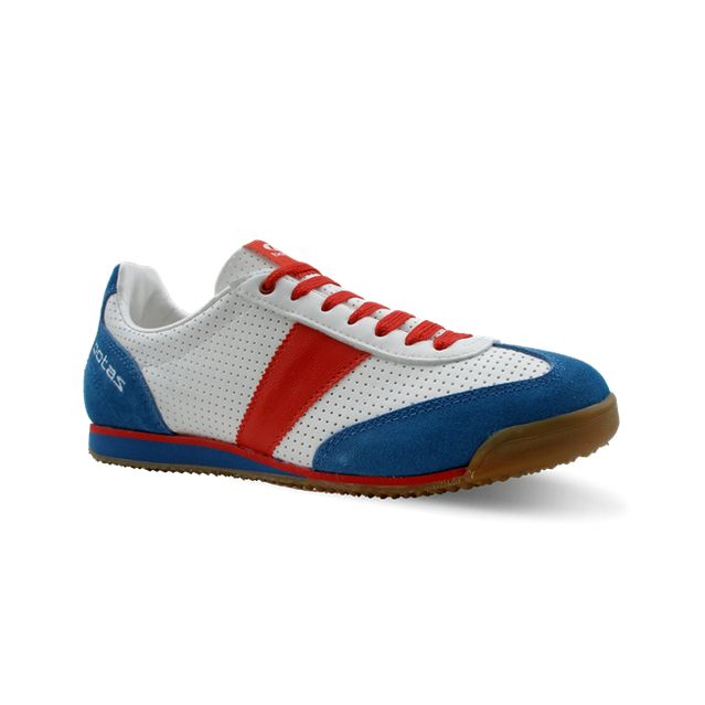 0a8ac8ec022 nohejbalová obuv botas CLASSIC 08 modrá bílá červená